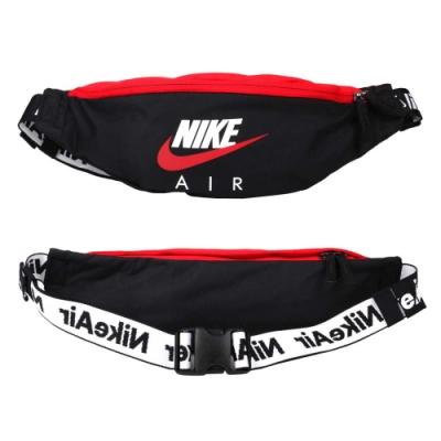 NIKE 運動腰包-臀包 側背包 慢跑 單車 自行車 小包 斜背包 CW9263-011 黑紅白