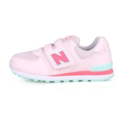 NEWBALANCE 中童復古慢跑鞋-WIDE 淺粉紅粉綠