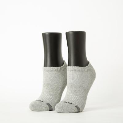 Footer除臭襪-單色運動逆氣流氣墊船短襪-六雙入(白*2+淺灰*2+桃紅*2)