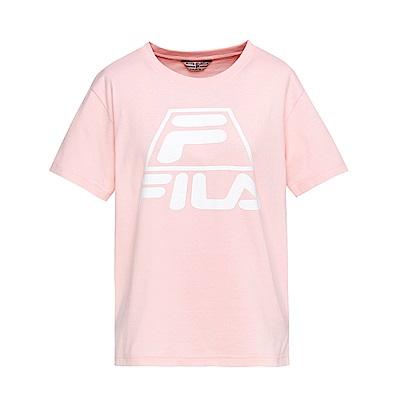 FILA #漢城企劃 女款短袖圓領T恤-粉 5TET-1421-PK