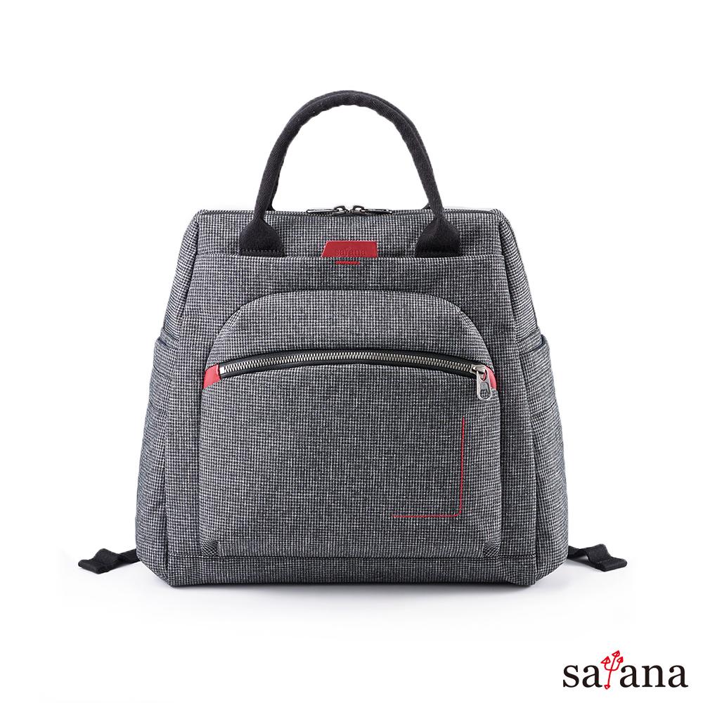 satana - Fresh 輕職人個性背包  - 黑白小千鳥