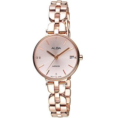 ALBA雅柏經典雅致時尚腕錶(AG8J76X1)-玫瑰金