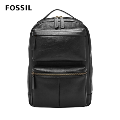 FOSSIL 母親節優惠 Buckner 多功能真皮單肩電腦包 -黑色 MBG9444001 (可入13吋筆電)