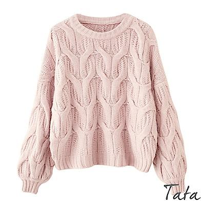 麻花編織針織上衣 TATA
