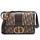 Dior 30 MONTAIGNE系列經典OBLIQUE緹花布小牛皮飾邊肩背包(棕色) product thumbnail 1