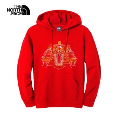 【新年限定】The North Face北面男女款紅色舒適連帽上衣|4UC6682