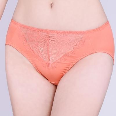 思薇爾 夏之戀人系列M-XXL蕾絲中腰三角內褲(蜜誘橘)