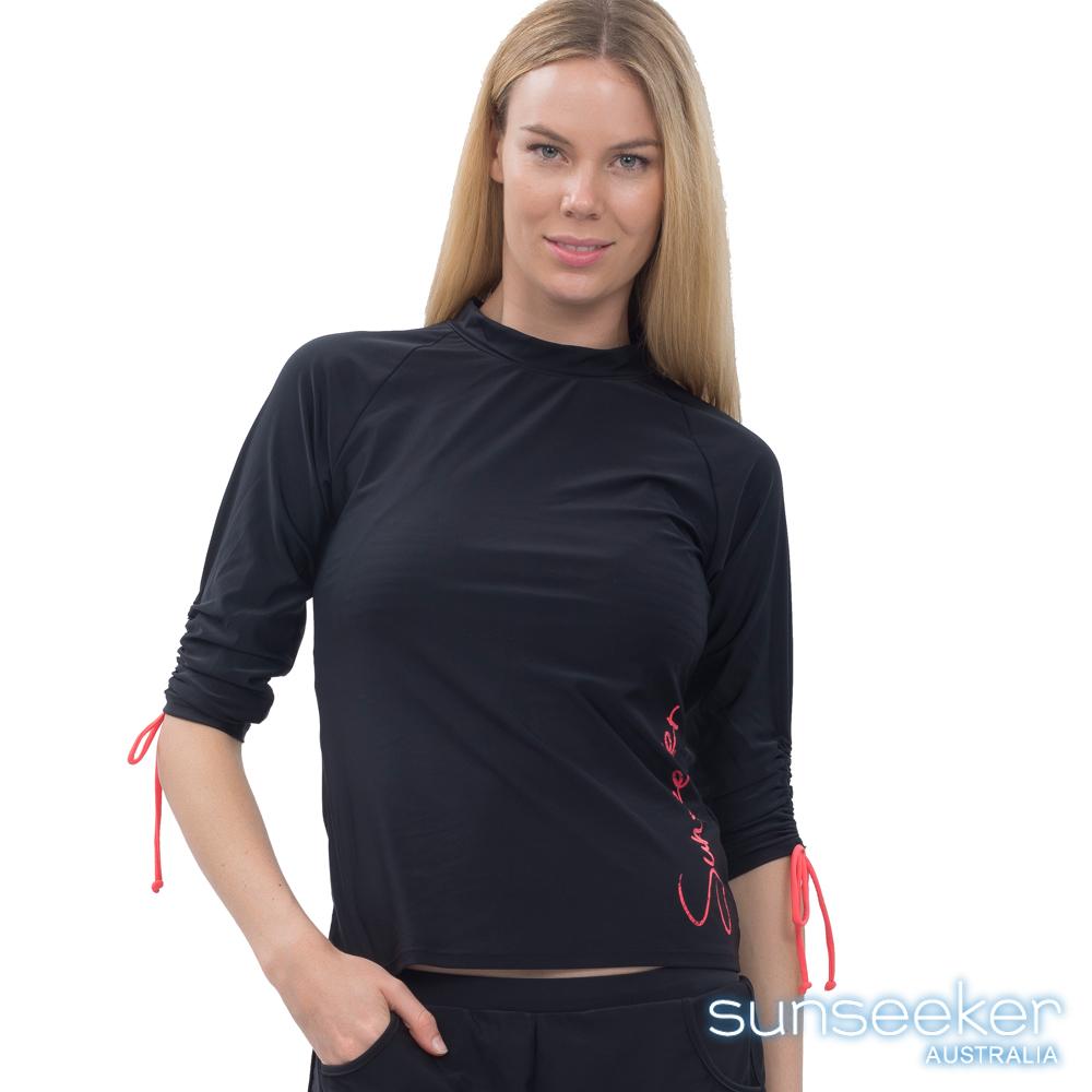 澳洲Sunseeker泳裝七分袖造型衝浪上衣-黑