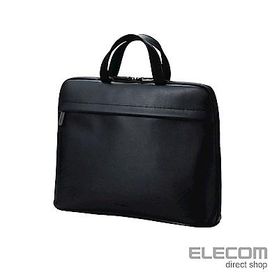 ELECOM BETSUMO 軟皮手提包15.6吋-黑