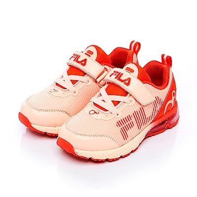 FILA KIDS 中童MD氣墊慢跑鞋-粉橘 2-J829S-522