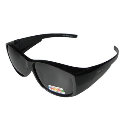 【Docomo頂級可包覆式偏光太陽眼鏡】加大型舒適包覆款 可完整包覆近視眼鏡 高等級寶麗來Polariozed偏光鏡片
