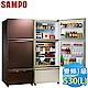SAMPO聲寶 530L 1級變頻3門電冰箱 SR-A53GDV(R7) 琉璃棕 product thumbnail 1
