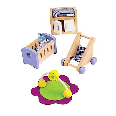 德國Hape愛傑卡-角色扮演娃娃屋 居家系列-現代嬰兒房組合