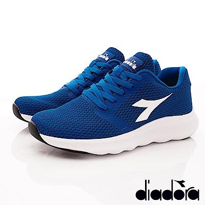 DIADORA-簡約緩震時尚跑鞋款 SI876藍(男段)