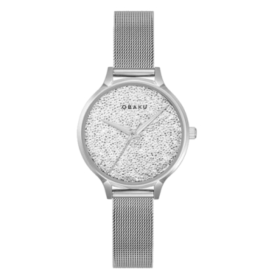 OBAKU閃耀星空美學時尚腕錶-銀(V238LXCWMC)/32mm