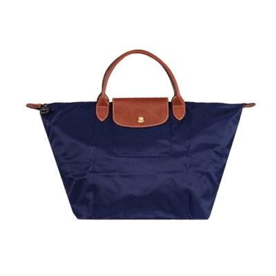 LONGCHAMP Le Pliage 短把摺疊水餃包 (中款/深藍色)