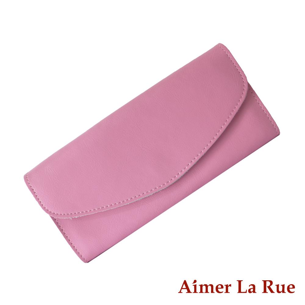 Aimer La Rue 品味時尚真皮長夾(共二色)