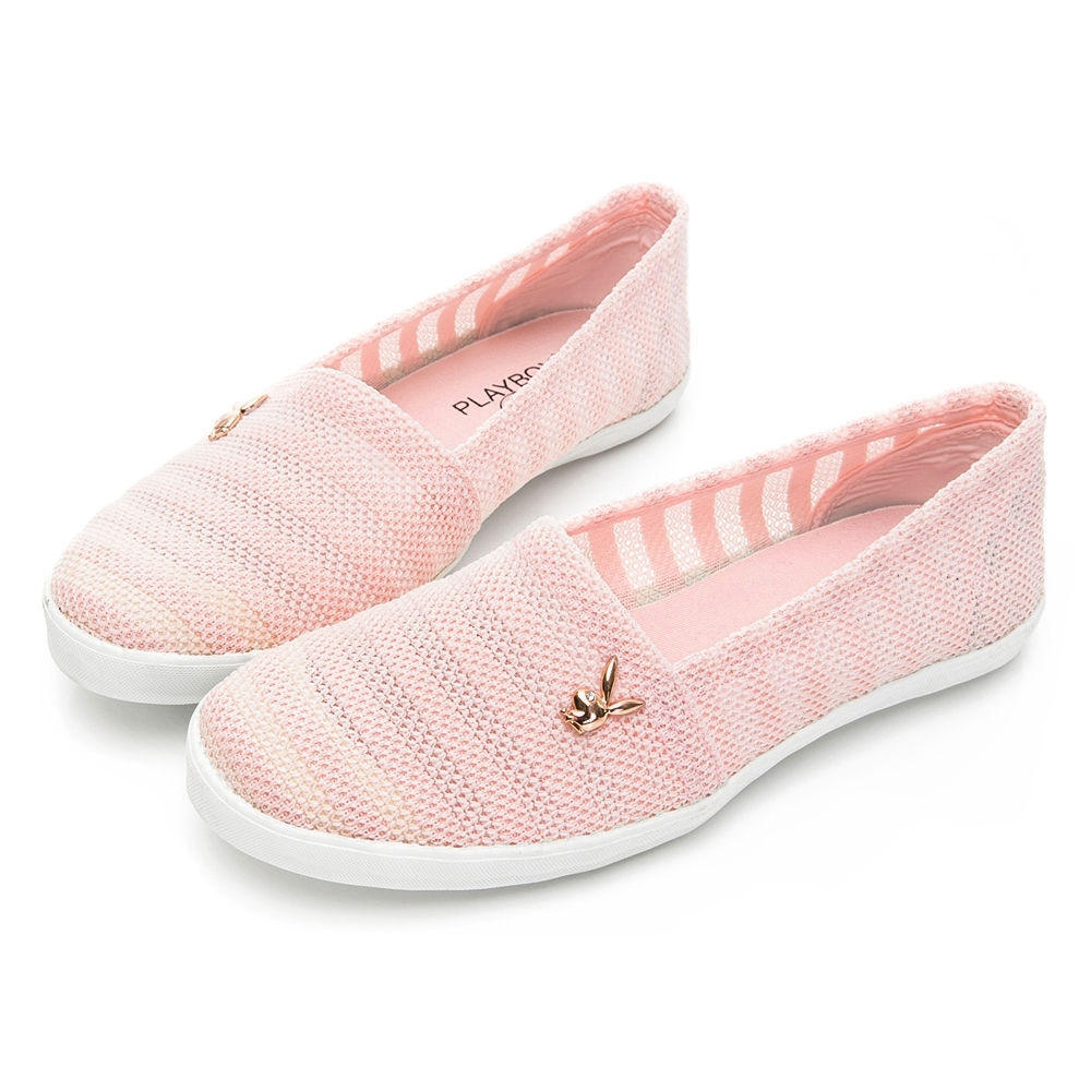PLAYBOY優雅步調縷空懶人鞋-粉-Y620799