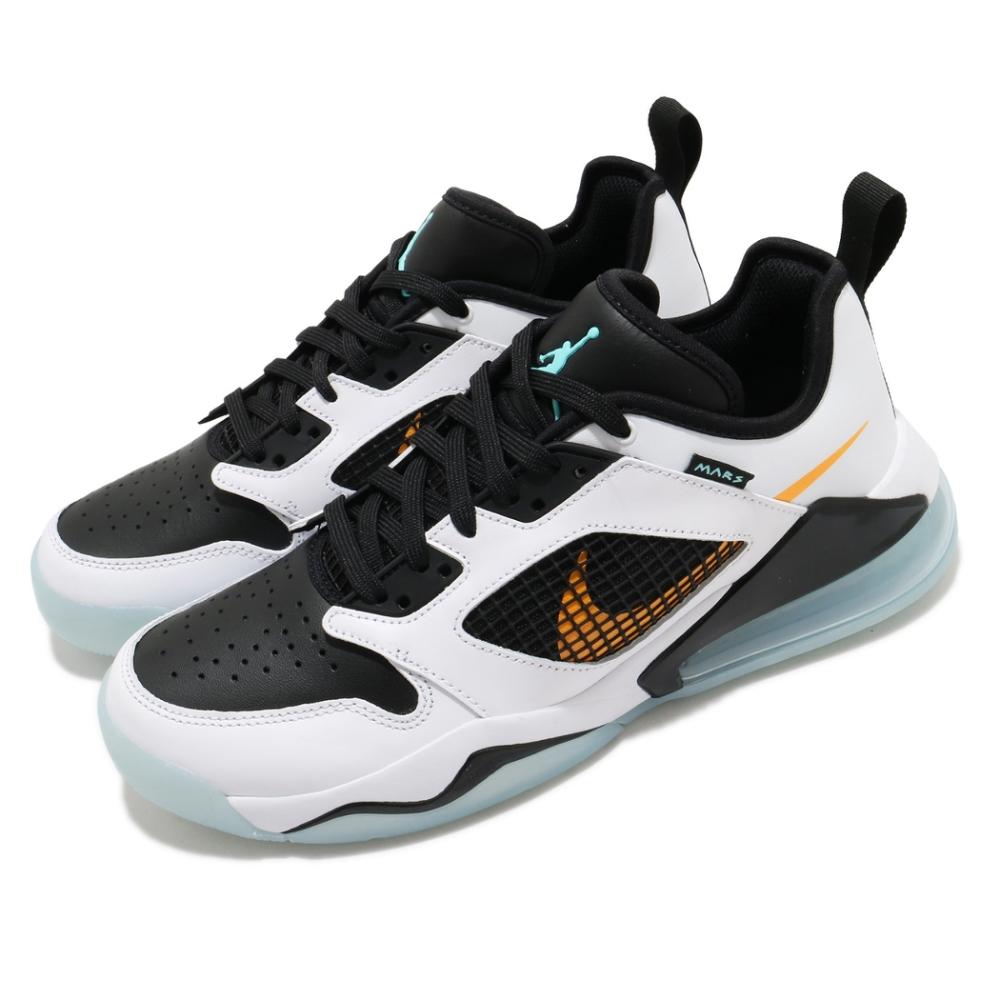 Nike 休閒鞋 Jordan Mars 270 男鞋 氣墊 避震 舒適 喬丹 球鞋 穿搭 白 橘 CK1196101