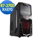 微星A320平台[龍泉浪人]R7八核RX570獨顯電玩機