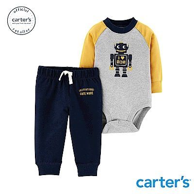 Carter's台灣總代理 機器人拼色2件組套裝