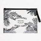 iconic 熱帶風情透明夾鏈袋手袋L-熱帶雨林