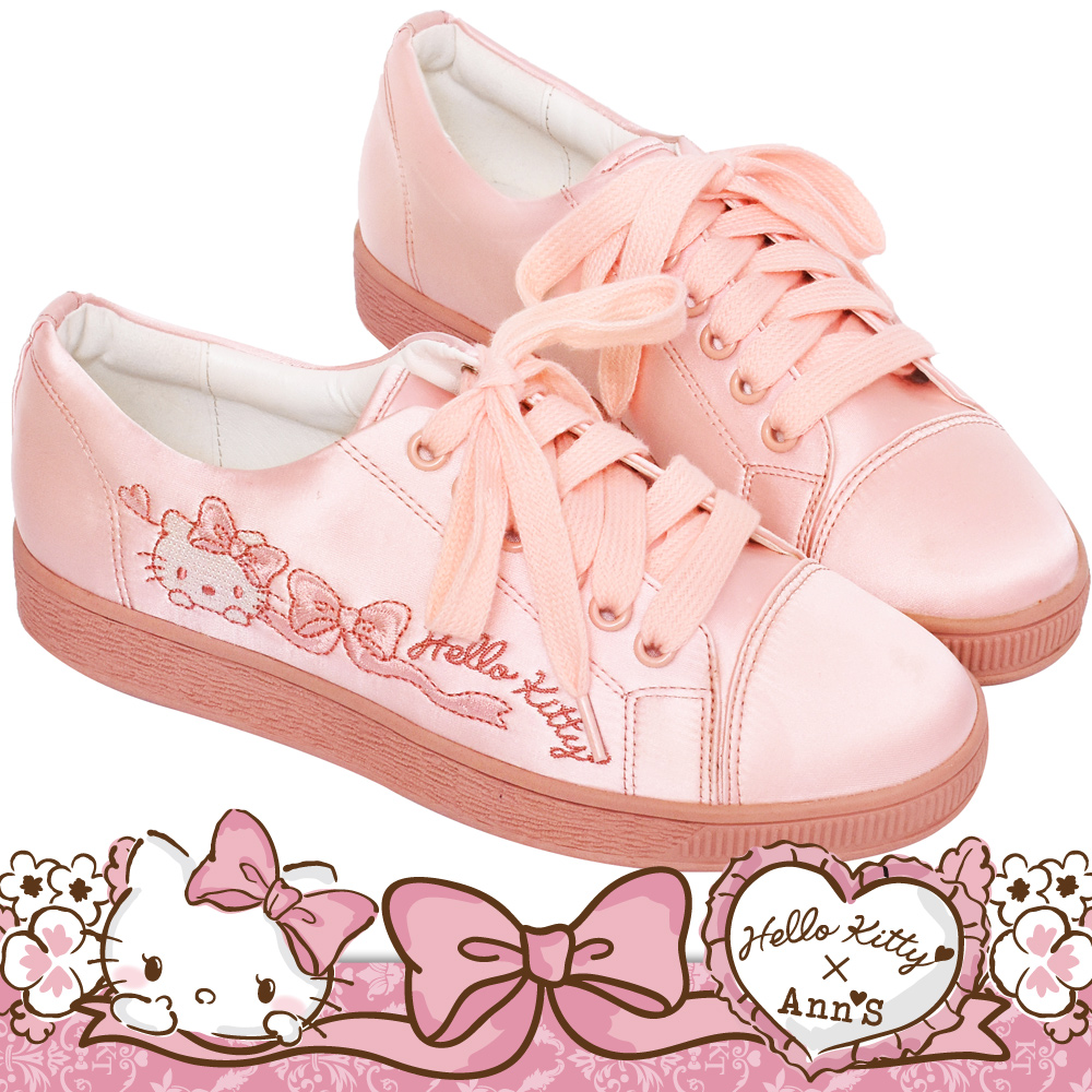 HELLO KITTY X Ann'S LADY美人緞面夢幻球鞋-粉