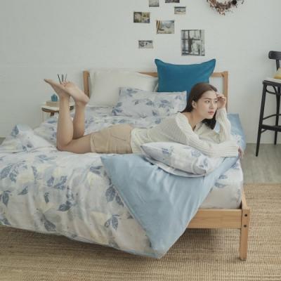 BUHO 台製300織100%TENCEL純天絲床包被套四件組-雙人加大(晨清葉影)