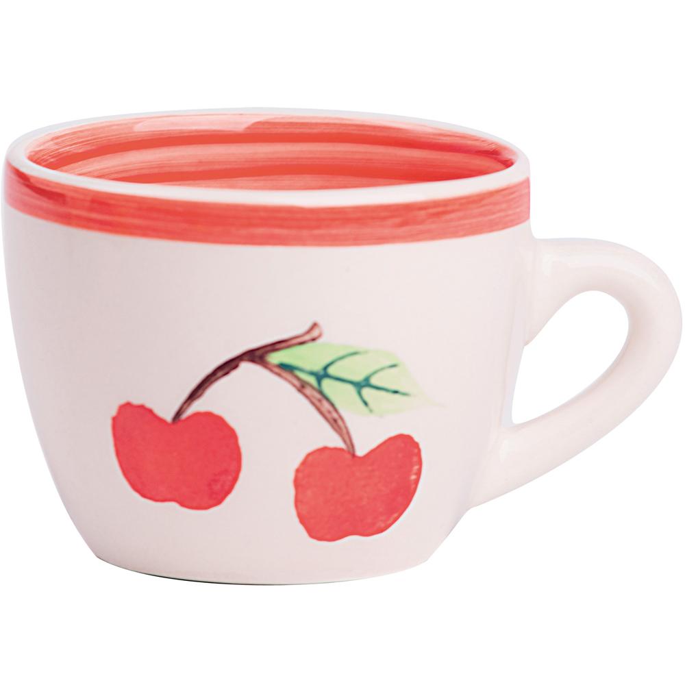 《EXCELSA》陶製濃縮咖啡杯(紅櫻桃90ml)