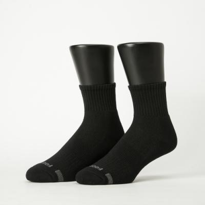 Footer除臭襪-單色運動逆氣流氣墊襪加大款-六雙入(深灰*2+淺灰*2+黑*2)