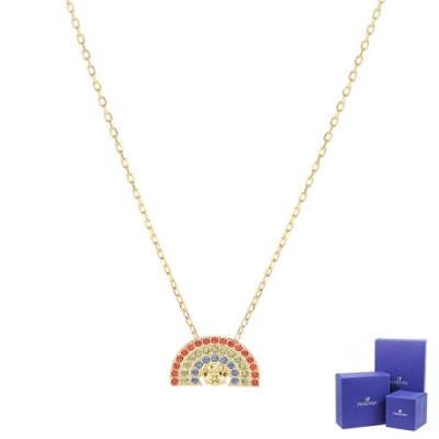 SWAROVSKI 施華洛世奇 Sparkling Dance璀璨水晶彩虹造型金色項鍊