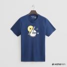Hang Ten - 男裝 - 有機棉-數字街頭logo短T - 藍