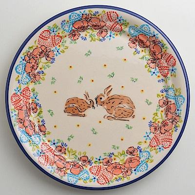【波蘭陶 Zaklady】 小兔花園系列 圓形餐盤 25cm 波蘭手工製