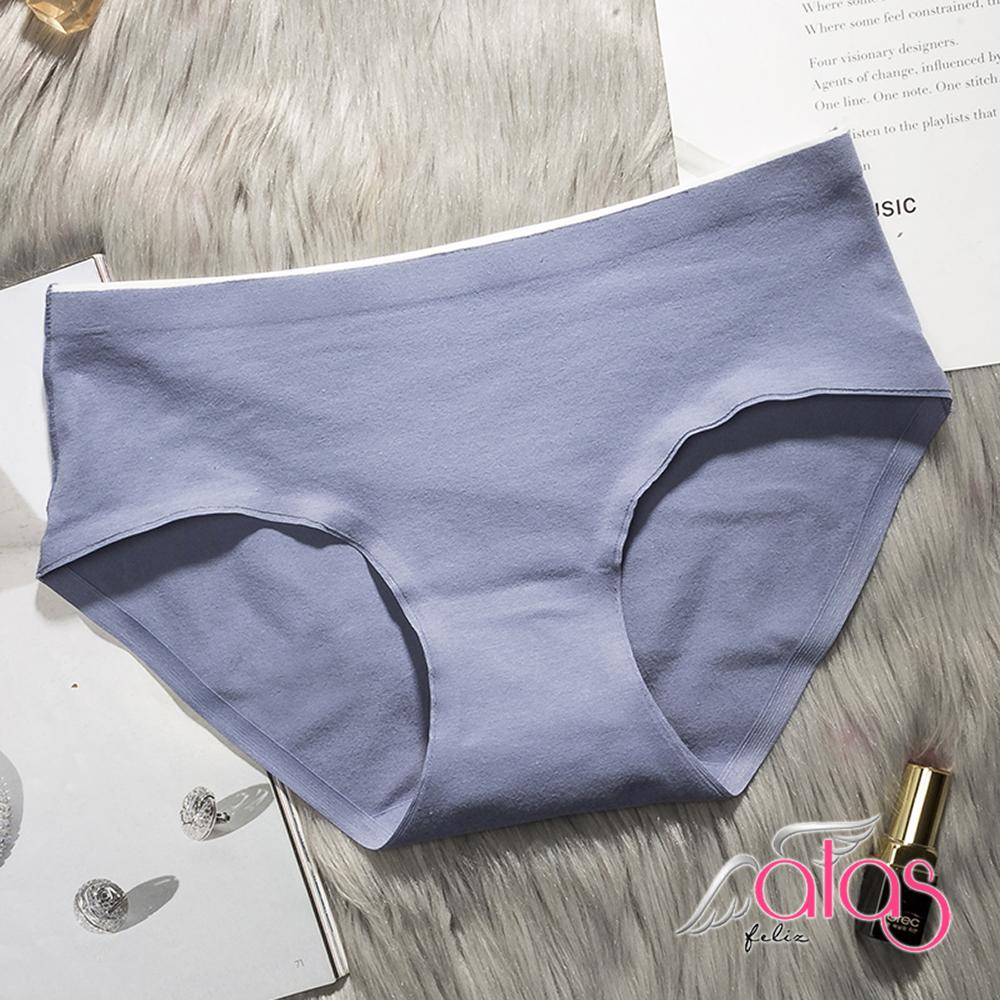 三角內褲 極簡質感純色棉質女性內褲 L-XXL (藍色) alas