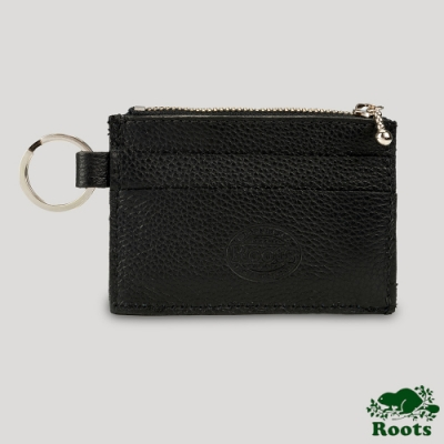 Roots卡夾零錢鑰匙包-黑色