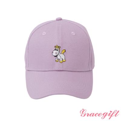 Disney collection by gracegift-玩總小奶油電繡棒球帽 淺紫