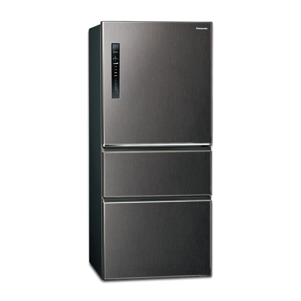 Panasonic國際牌610L三門變頻冰箱 NR-C610HV-V 絲紋黑