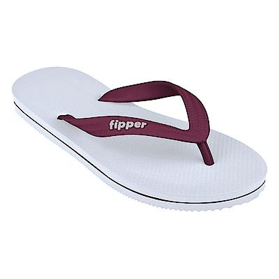 Fipper SLICK 男款拖鞋 WHITE MAROON