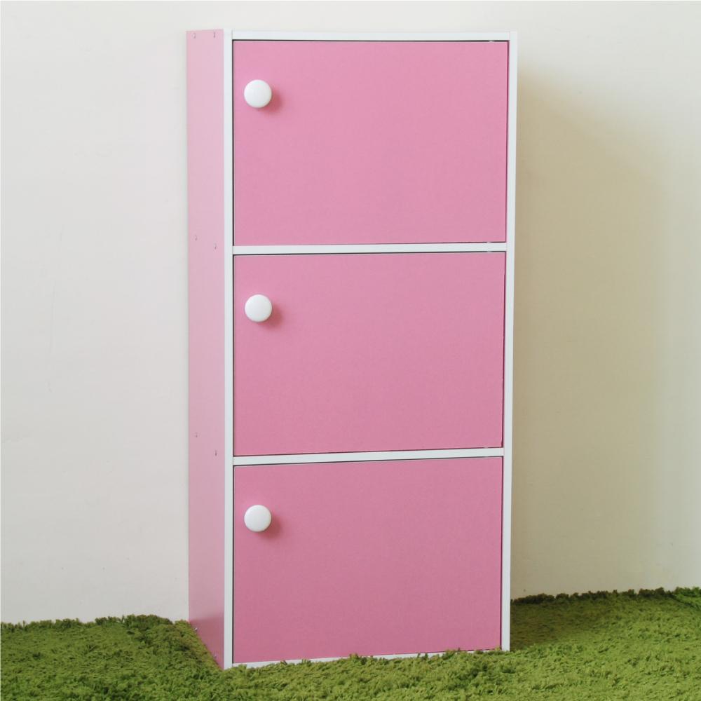 《HOPMA》DIY巧收漾彩三門收納櫃-寬42 x深30 x高89.6cm