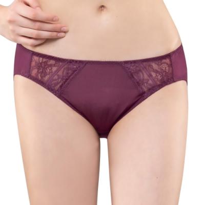 思薇爾 維納斯系列M-XL蕾絲低腰三角內褲(豔棗紅)