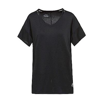 FILA 女款涼感短袖T恤-黑色 5TET-1604-BK