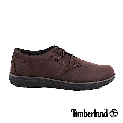 Timberland 男款咖啡色絨面防滑皮革淺口鞋