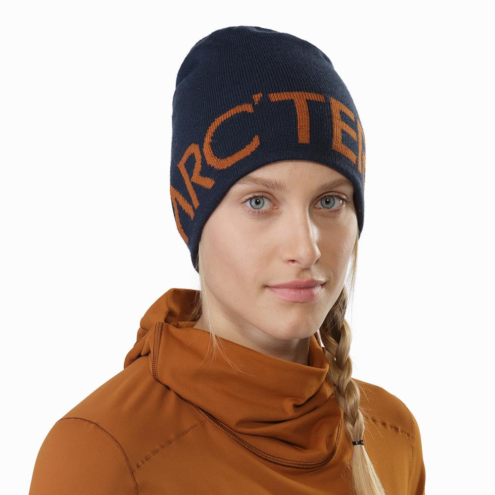 Arcteryx Word 保暖針織毛帽 翠鳥藍/火岩紅