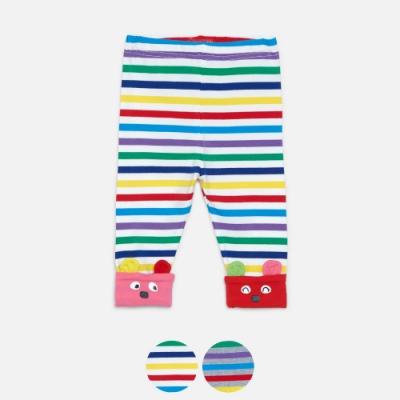 WHY AND 1/2 mini 條紋棉質萊卡反折緊身褲 1Y~4Y 多色可選
