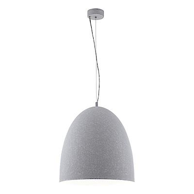 EGLO歐風燈飾 現代白圓弧燈罩式短型大吊燈(不含燈泡)