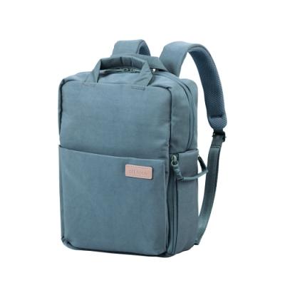 ELECOM 帆布3WAY薄型後背包OF05-青瓷綠