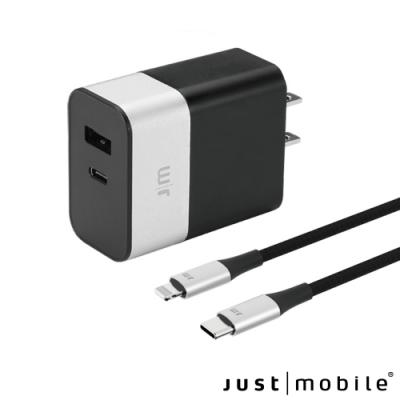 Just Mobile AluPlug Pro 鋁質雙埠急速充電器 (附線全配組)
