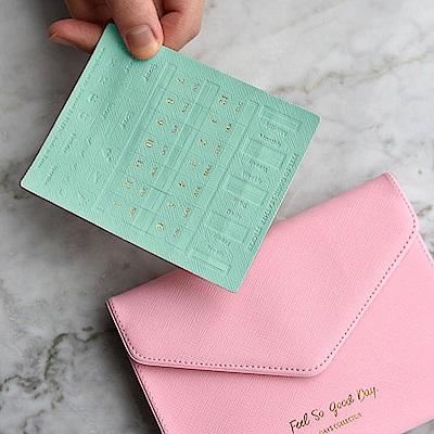 PLEPIC 馬卡龍燙金皮革標籤貼-薄荷綠