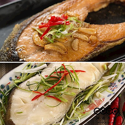 【頂達生鮮】熱銷大規格鮭魚&比目魚切片任選6包組