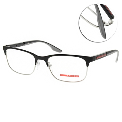 PRADA光學眼鏡 經典眉框款/黑 #VPS52N 08P-1O1-53mm